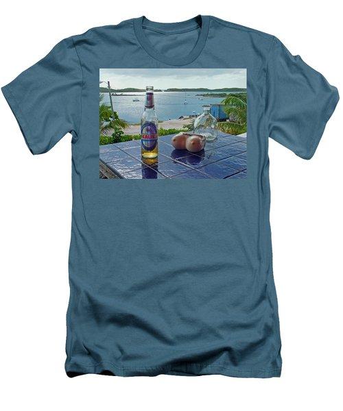 Kalik Beer Bottle At The Front Porch Men's T-Shirt (Athletic Fit)