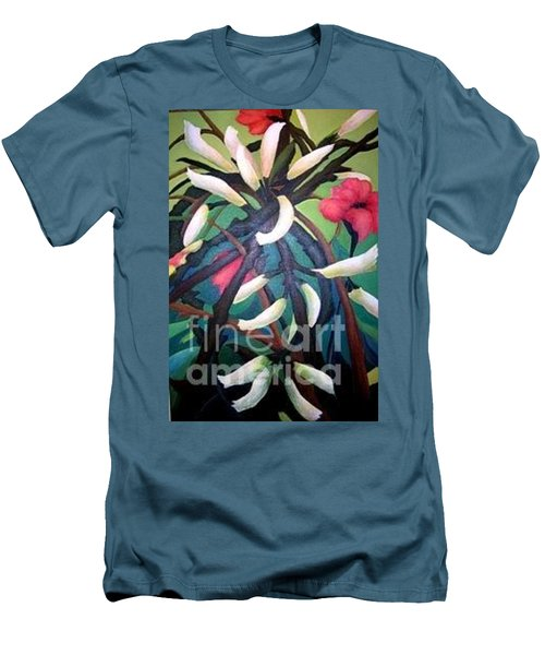 Kangaroo Paws Men's T-Shirt (Slim Fit) by Glory Wood