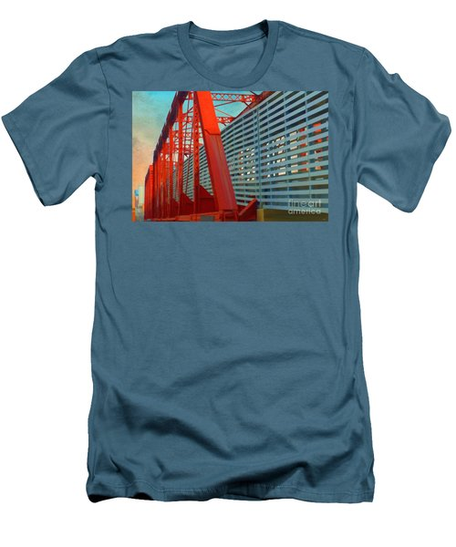 Kansas City Train Bridge - Pencoyd Railroad Bridge  Men's T-Shirt (Athletic Fit)