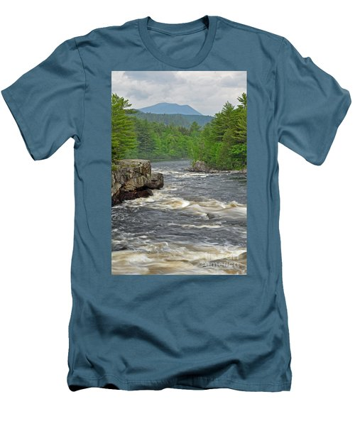 Katahdin And Penobscot River Men's T-Shirt (Athletic Fit)