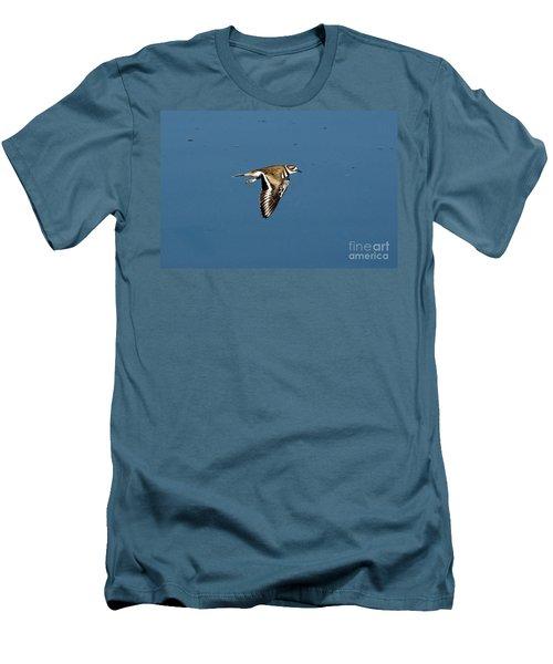Killdeer In Flight Men's T-Shirt (Athletic Fit)
