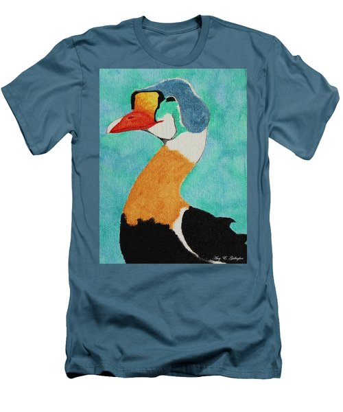 King Eider Men's T-Shirt (Slim Fit) by Amy Gallagher