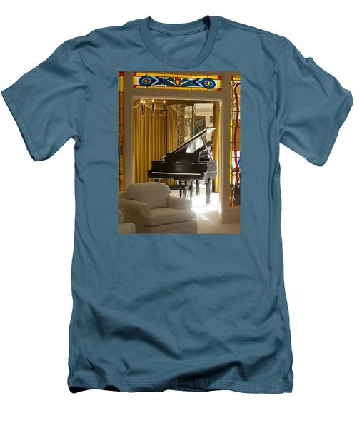 Kings Piano Men's T-Shirt (Slim Fit) by Jewels Blake Hamrick