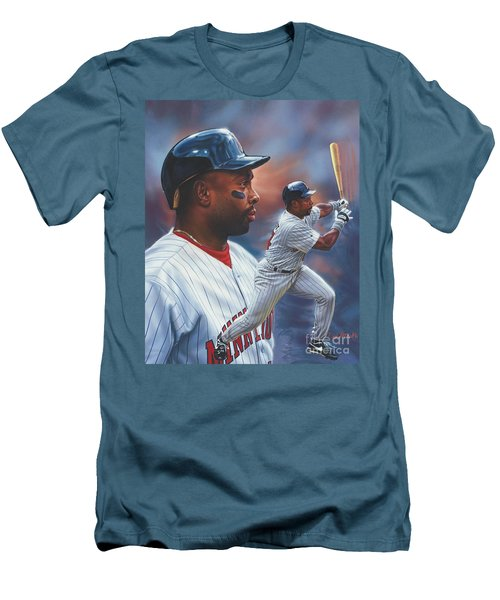 Kirby Puckett Minnesota Twins Men's T-Shirt (Athletic Fit)