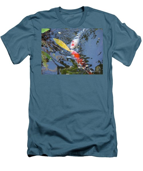 Kissin' Koi Men's T-Shirt (Slim Fit) by HEVi FineArt