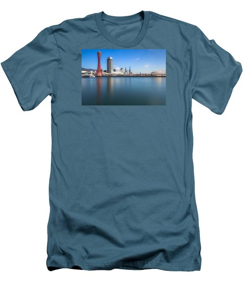 Kobe Port Island Tower Men's T-Shirt (Slim Fit) by Hayato Matsumoto