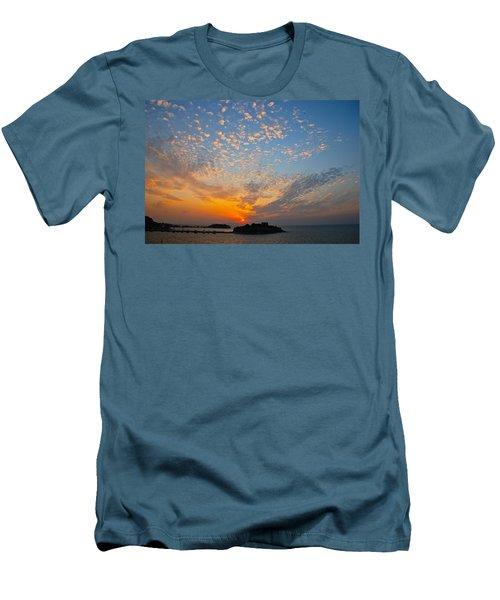Kusadasi Sunset Men's T-Shirt (Slim Fit) by Eric Tressler