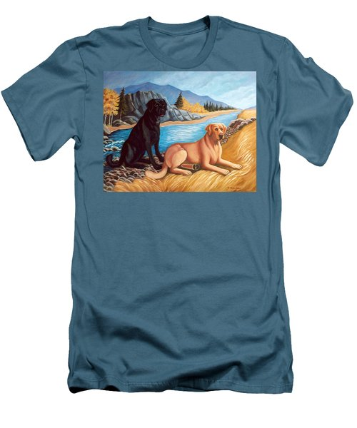 Labrador Retrievers Men's T-Shirt (Athletic Fit)