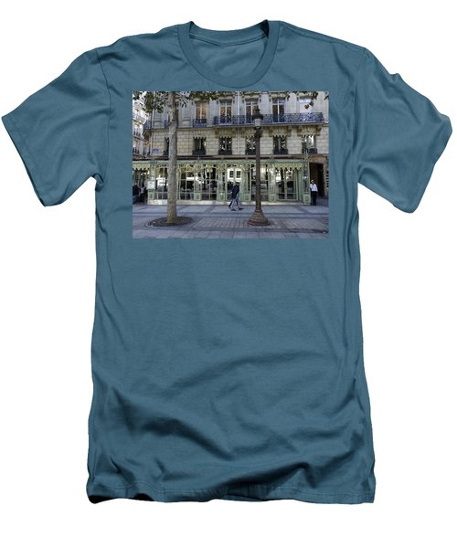 Laderee On The Champs De Elysees In Paris France  Men's T-Shirt (Slim Fit) by Richard Rosenshein