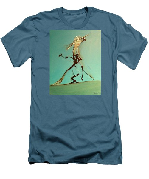 Lady In The Hat Men's T-Shirt (Slim Fit) by Kicking Bear  Productions