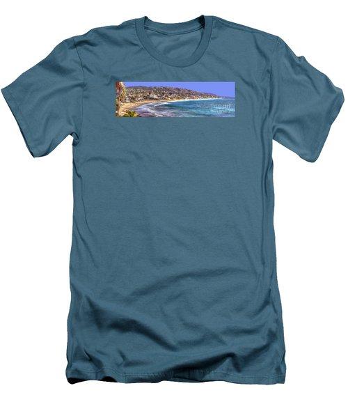 Laguna Beach Coast Panoramic Men's T-Shirt (Slim Fit) by Jim Carrell
