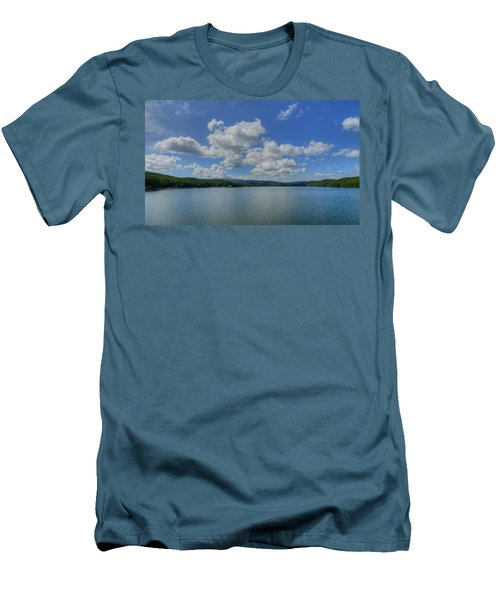 Lake Arrowhead Men's T-Shirt (Slim Fit) by Julia Wilcox