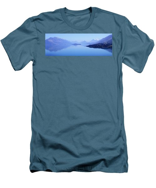 Men's T-Shirt (Slim Fit) featuring the photograph Lake Glenorchy New Zealand by Ann Lauwers