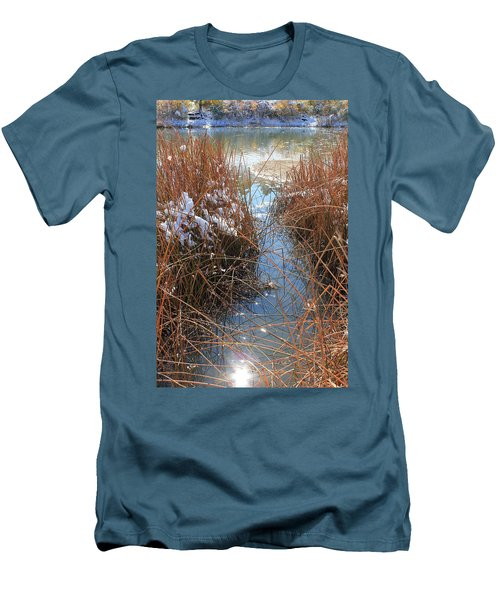 Men's T-Shirt (Slim Fit) featuring the photograph Lake Glitter by Diane Alexander