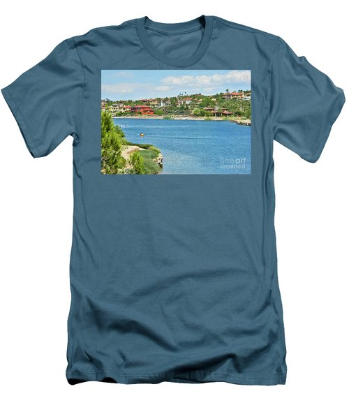 Men's T-Shirt (Slim Fit) featuring the photograph Lake Las Vegas In May by Emmy Marie Vickers