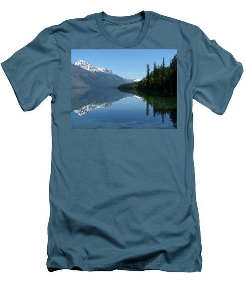 Lake Mcdonald - Glacier National Park Men's T-Shirt (Slim Fit) by Lucinda Walter