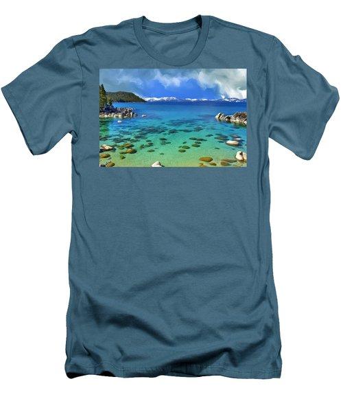 Lake Tahoe Cove Men's T-Shirt (Slim Fit) by Dominic Piperata
