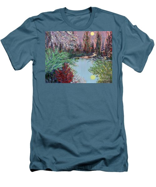 Lake Tranquility Men's T-Shirt (Slim Fit) by Alys Caviness-Gober