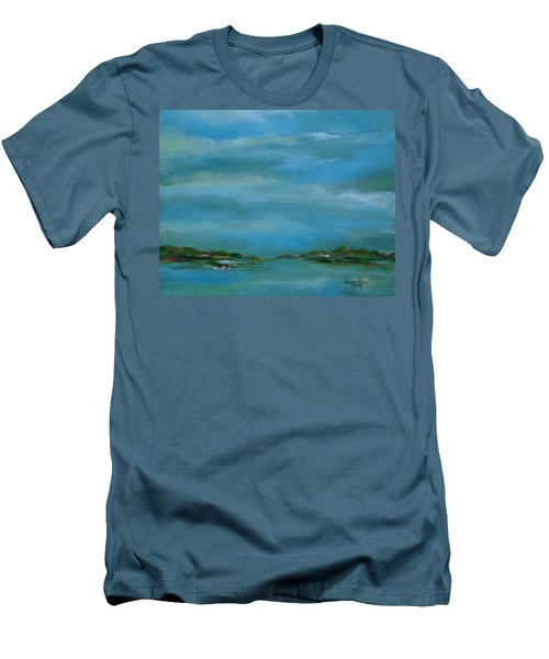 Lake Wallenpaupack Early Morning Men's T-Shirt (Slim Fit) by Judith Rhue