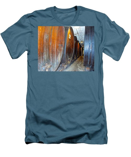 Large Barrels At Korbel Winery In Russian River Valley-ca Men's T-Shirt (Athletic Fit)