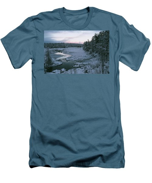 Men's T-Shirt (Slim Fit) featuring the photograph Late Afternoon In Winter by David Porteus