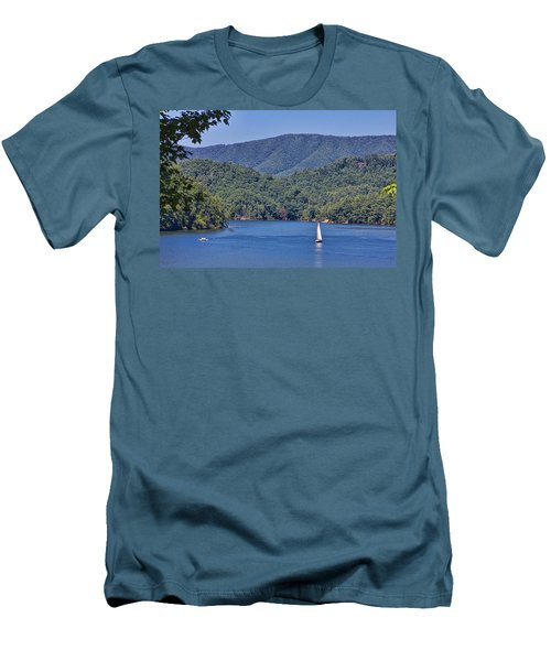 Late Summer Cruising  Men's T-Shirt (Slim Fit) by Tom Culver