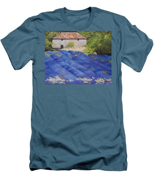 Lavender Fields Men's T-Shirt (Athletic Fit)