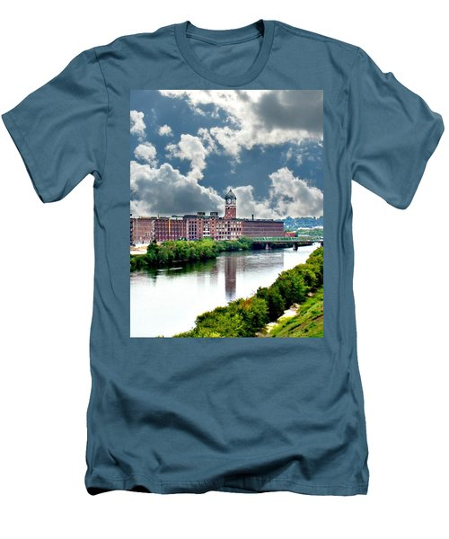 Lawrence Ma Historic Clock Tower Men's T-Shirt (Athletic Fit)