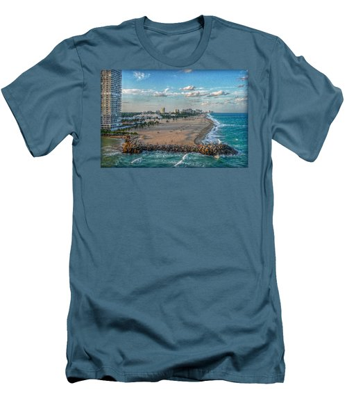 Leaving Port Everglades Men's T-Shirt (Slim Fit) by Hanny Heim