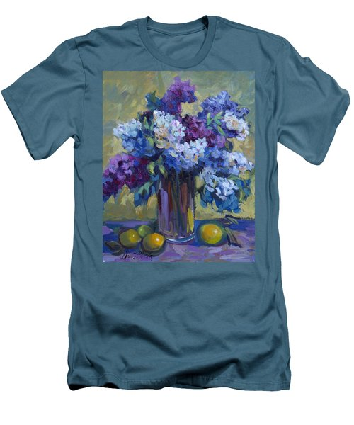 Lemons And Lilacs Men's T-Shirt (Slim Fit) by Diane McClary