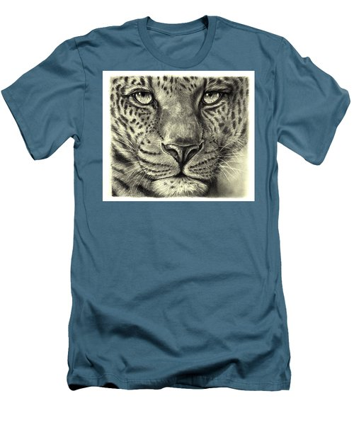 Leopard Men's T-Shirt (Slim Fit) by Heidi Kriel