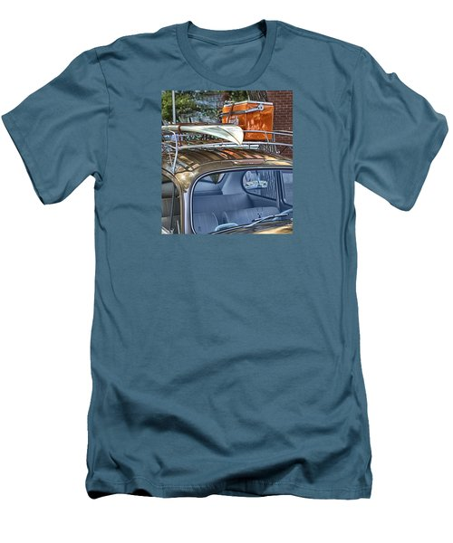 Let's Go Surfing Men's T-Shirt (Slim Fit) by Theresa Tahara