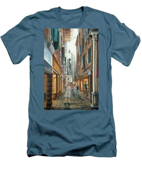 Light From San Salvador Merceria Del Capitello San Marco Venezia Men's T-Shirt (Athletic Fit)