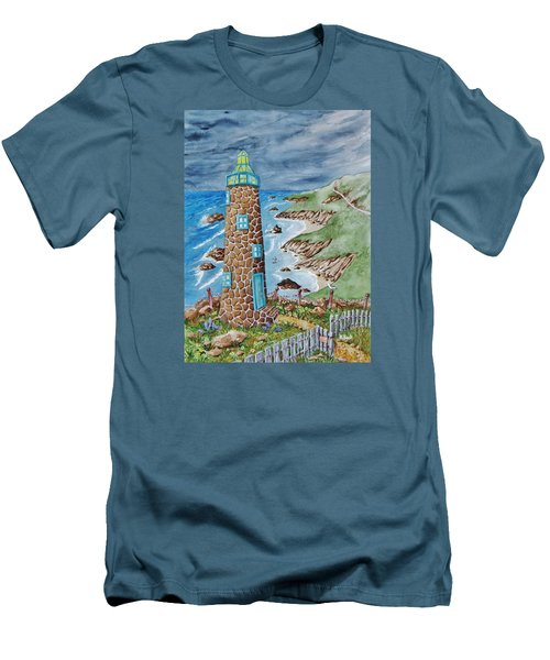 Lighthouse Men's T-Shirt (Slim Fit) by Katherine Young-Beck