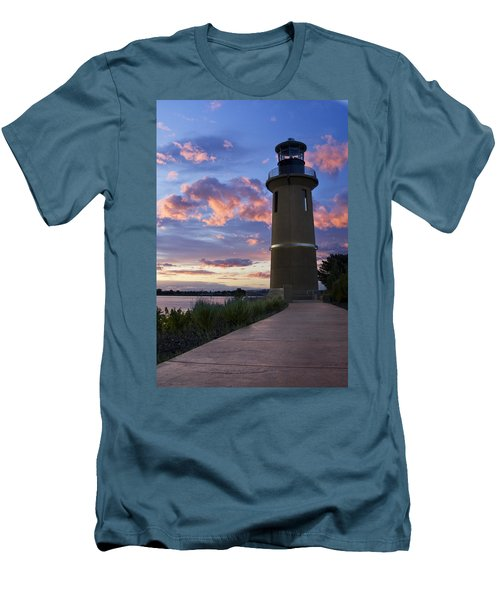 Men's T-Shirt (Slim Fit) featuring the photograph Lighthouse by Sonya Lang