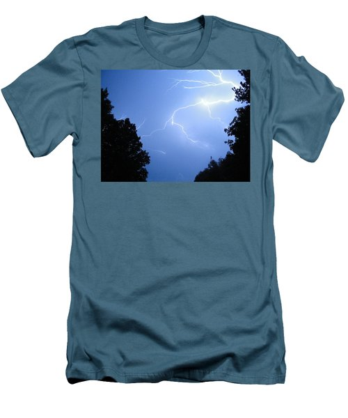 Lighting Up The Night Men's T-Shirt (Slim Fit) by Tiffany Erdman