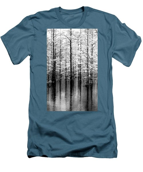 Lightning On The Wetlands Men's T-Shirt (Slim Fit) by Faith Williams