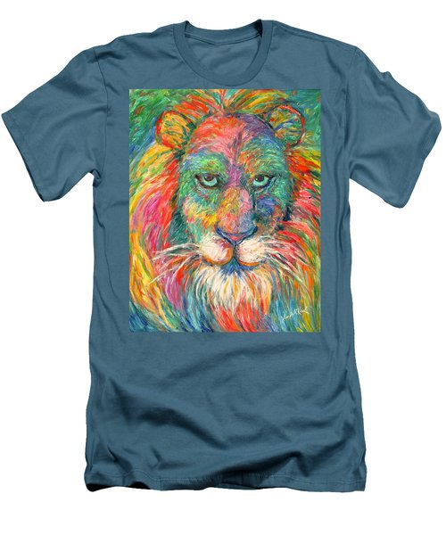 Lion Explosion Men's T-Shirt (Athletic Fit)