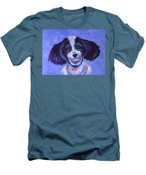 Little Dog Blue Men's T-Shirt (Athletic Fit)