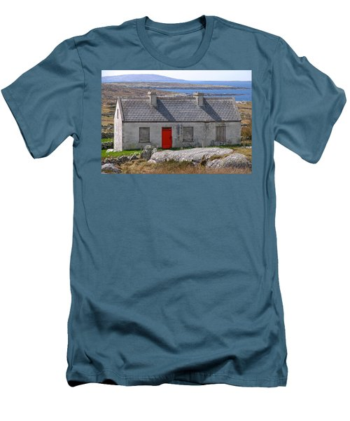 Men's T-Shirt (Slim Fit) featuring the photograph Little Red Door II by Suzanne Oesterling