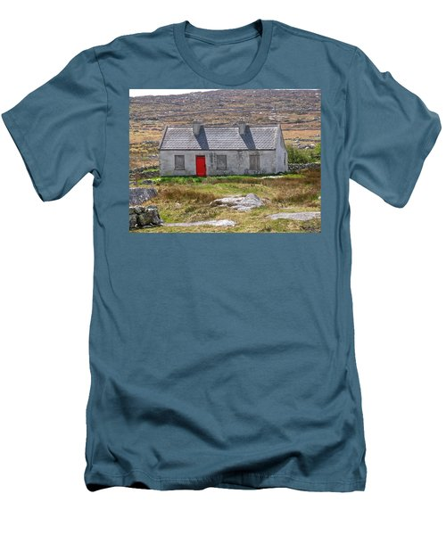 Men's T-Shirt (Slim Fit) featuring the photograph Little Red Door by Suzanne Oesterling