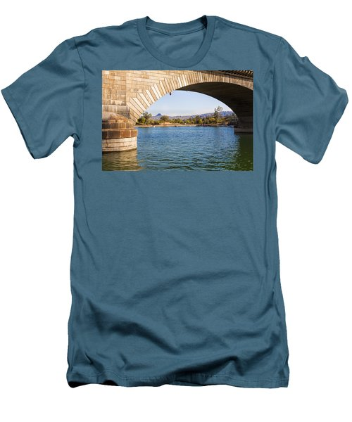 London Bridge At Lake Havasu City Men's T-Shirt (Athletic Fit)