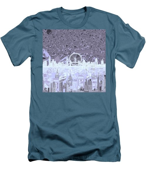 London Skyline Abstract 10 Men's T-Shirt (Slim Fit)