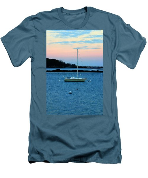 Lone Sailboat At York Maine Men's T-Shirt (Athletic Fit)