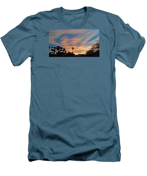 Lone Sentry Morning Sky Men's T-Shirt (Slim Fit) by Jay Milo