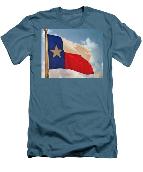 Lone Star Flag Men's T-Shirt (Slim Fit) by Walter Herrit