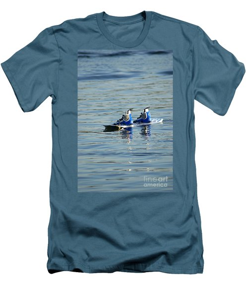 Lone Wakeboard Men's T-Shirt (Slim Fit) by DejaVu Designs