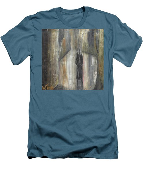 'lonely Road Without Him' Men's T-Shirt (Athletic Fit)