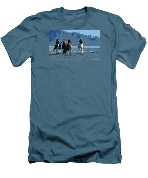 Long Beach Horses Study Men's T-Shirt (Athletic Fit)