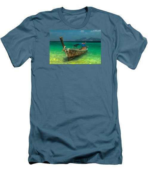 Men's T-Shirt (Slim Fit) featuring the photograph Longboat by Adrian Evans
